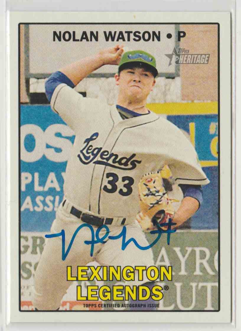 2016 Topps Heritage Minors Real One Autographs Nolan Watson #ROA-NW card front image
