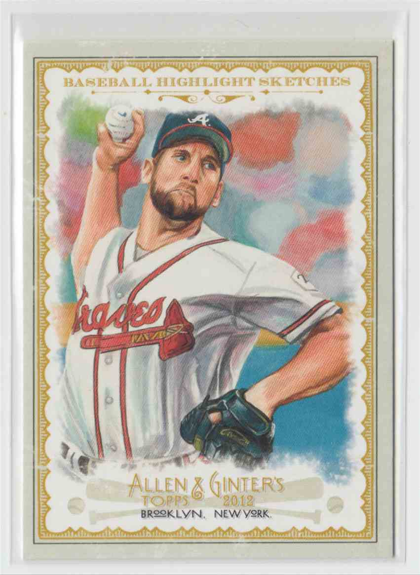 2012 Topps Allen & Ginter Baseball Highlights Sketches John Smoltz #BH-7 card front image