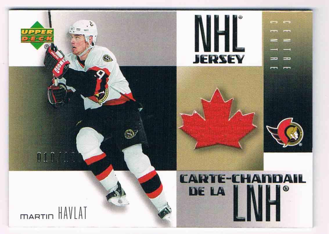 2005-06 Upper Deck McDonald's NHL Jersey Martin Havlat #MJ13 card front image