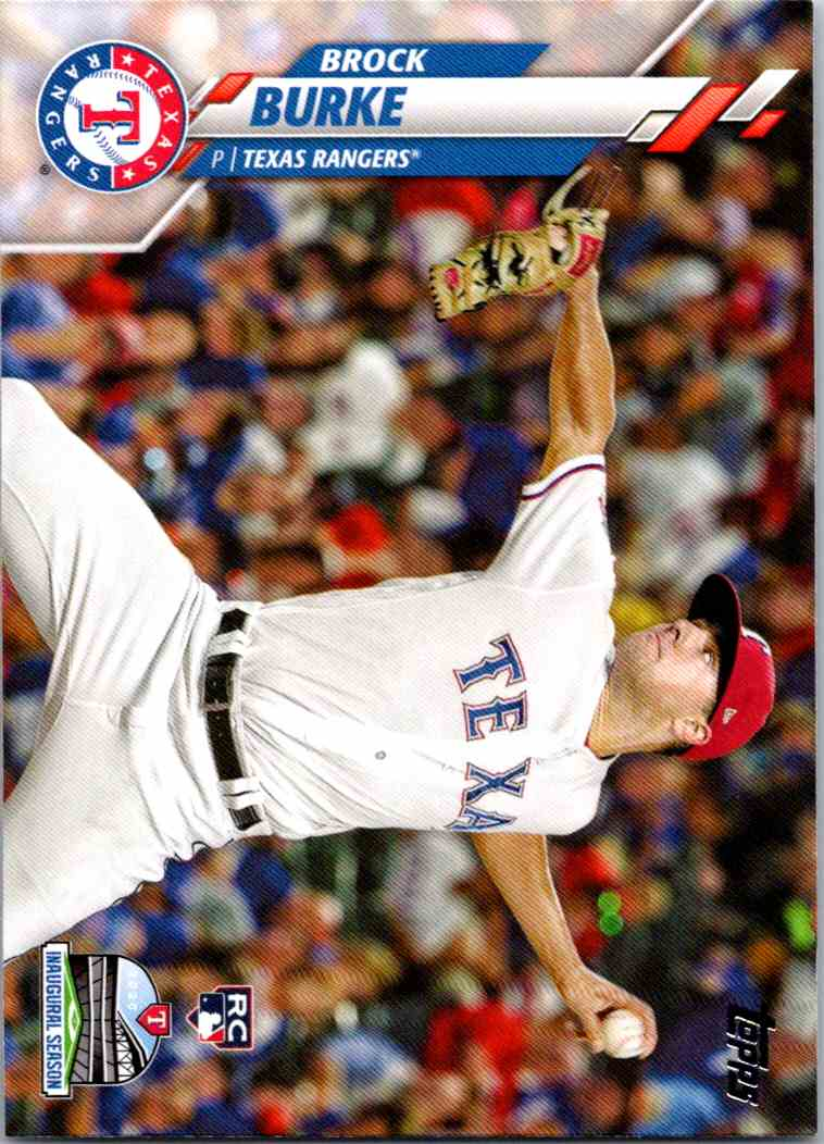 2020 Topps Series Two Brock Burke #691 card front image