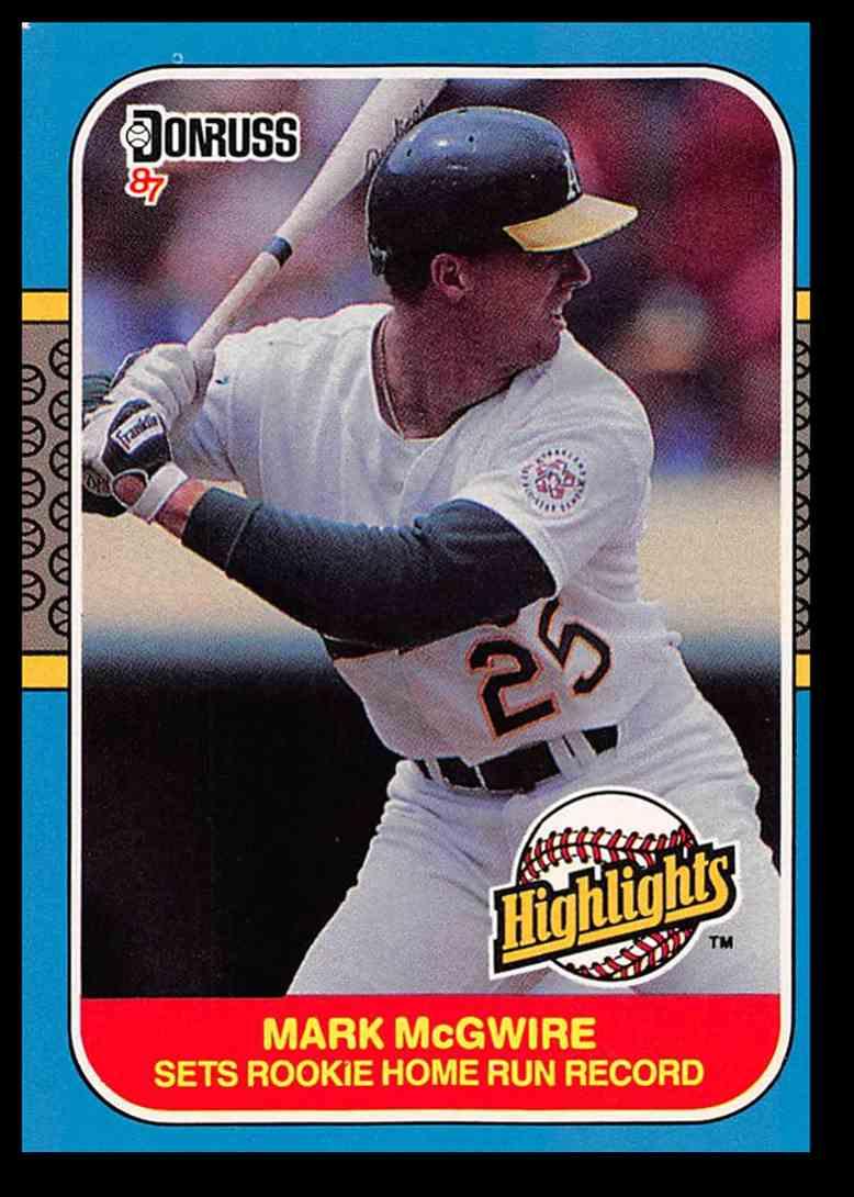 1987 Donruss Highlights Mark Mcgwire Baseball Card 27 On Kronozio