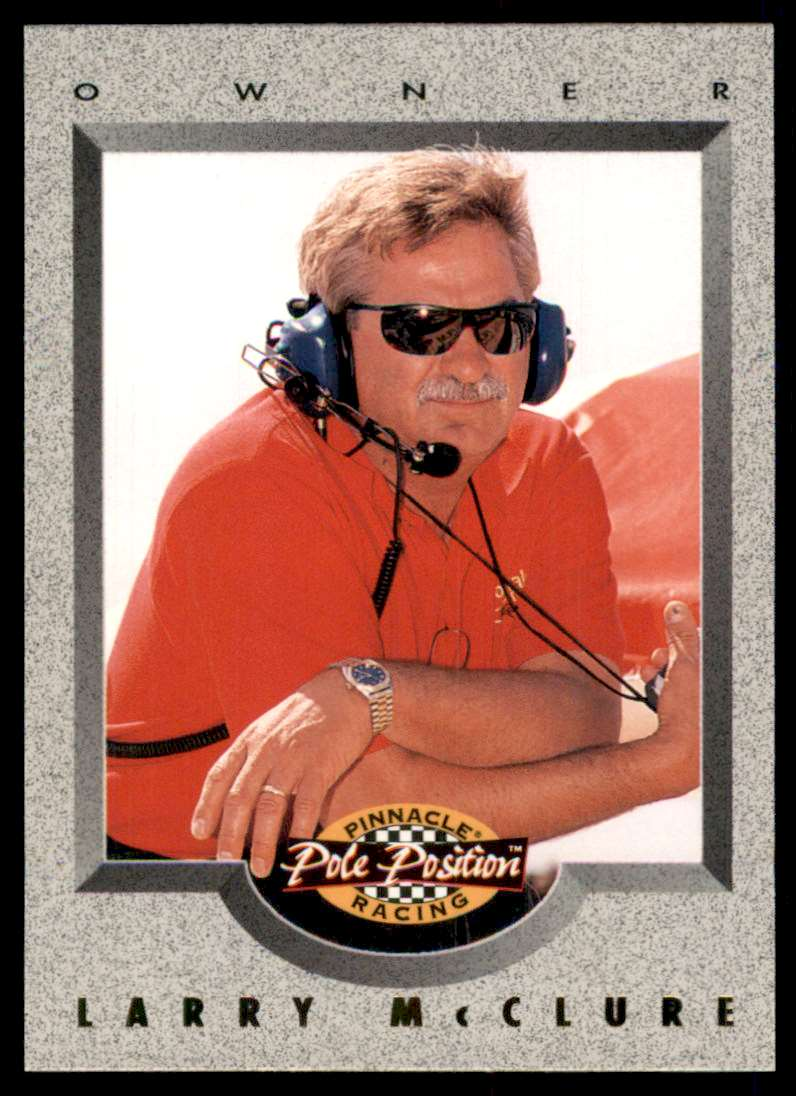 1996 Pinnacle Pole Position Larry McClure #88 card front image
