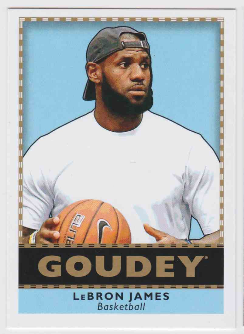 2018-19 UD Goodwin Champions Goudey SP LeBron James #G1 card front image