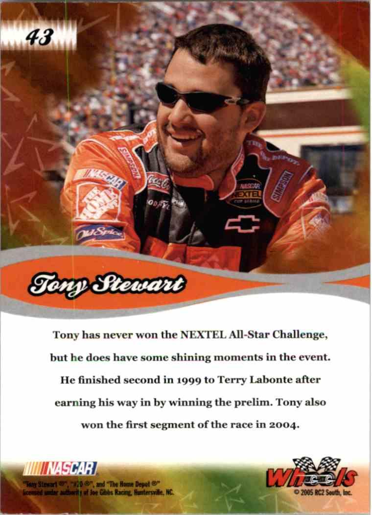 2005 Wheels American Thunder All Star Tony Stewart #43 card back image