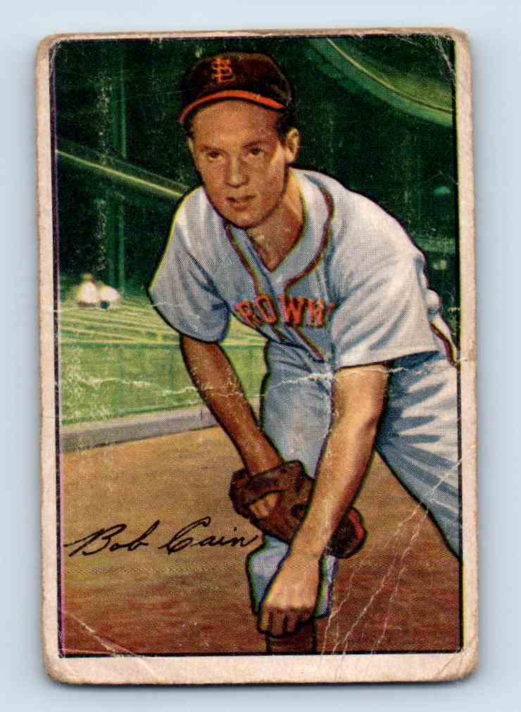 1952 Bowman Bob Cain #19 card front image