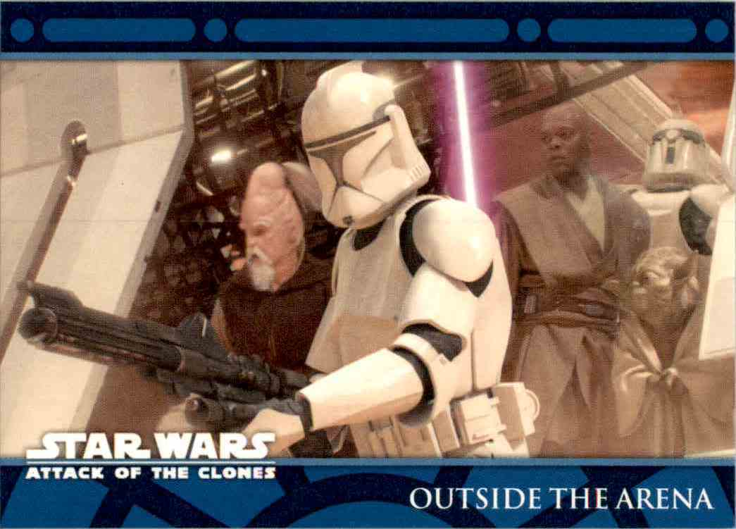 2002 Star Wars Attack Of The Clones Uk Outside The Arena #65 card front image