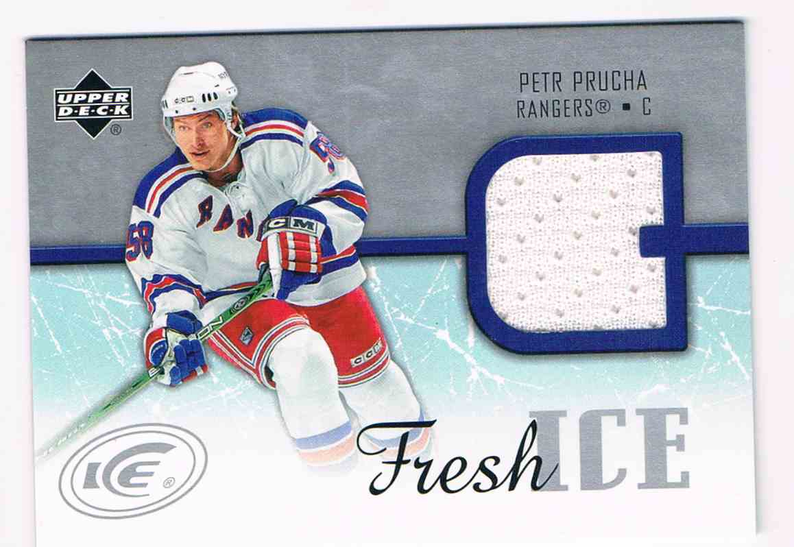 2005-06 Upper Deck Ice Fresh Ice Petr Prucha #FI-PP card front image