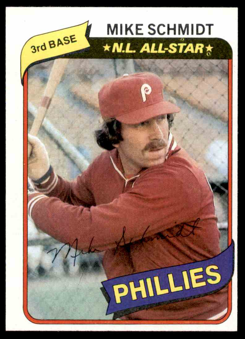 1980 Topps Mike Schmidt All Star 270 On Kronozio