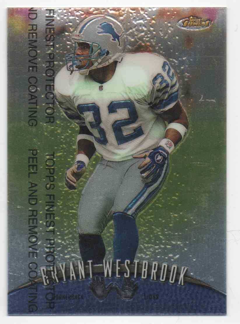1998 Topps Finest Bryant Westbrook #38 card front image