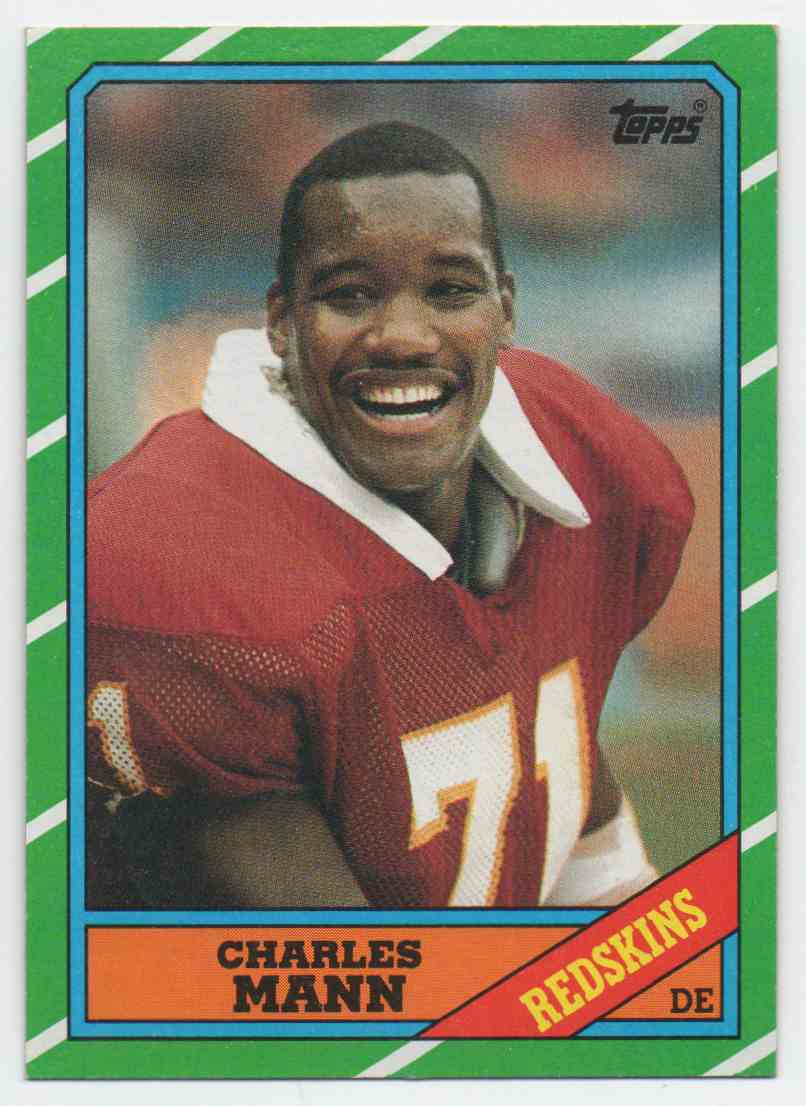 1986 Topps Charles Mann #181 card front image