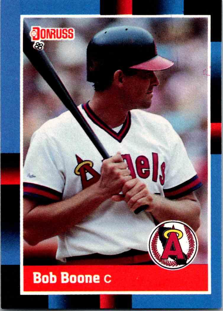 1988 Donruss Bob Boone #305 card front image