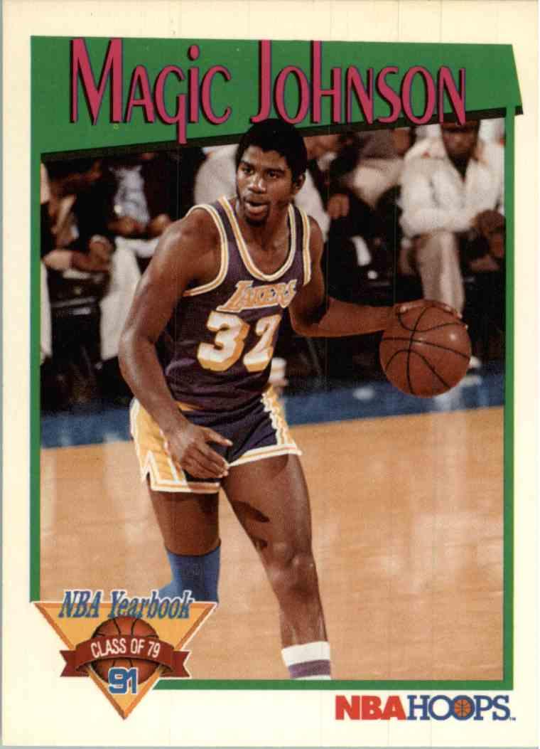 1991 92 Nba Hoops Magic Johnson 321 On Kronozio