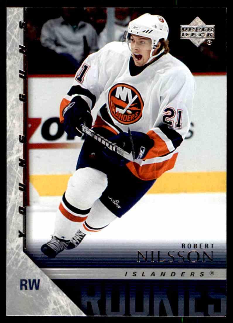 2005-06 Upper Deck Robert Nilsson #451 card front image