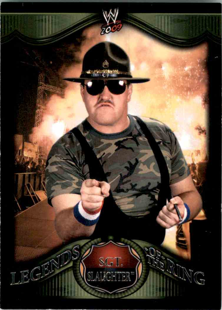2009 Topps Wwe Legends Of The Ring Sgt. Slaughter #14 card front image