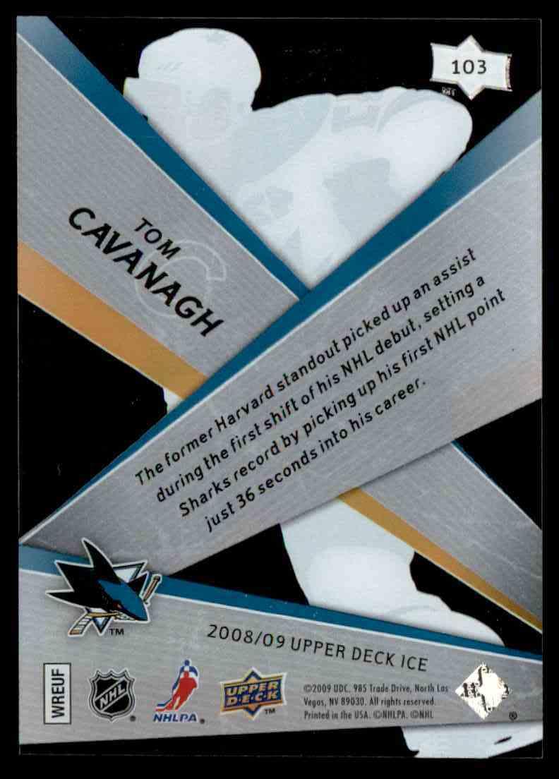 2008-09 Upper Deck Ice Tom Cavanagh #103 card back image