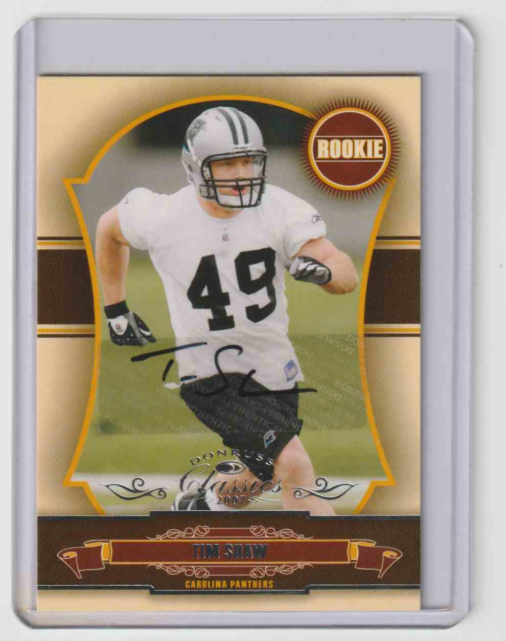 2007 Donruss Classics Tim Shaw #263 card front image