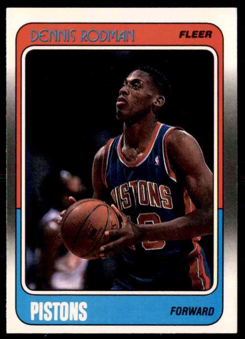1988-89 Fleer Dennis Rodman #43 card front image
