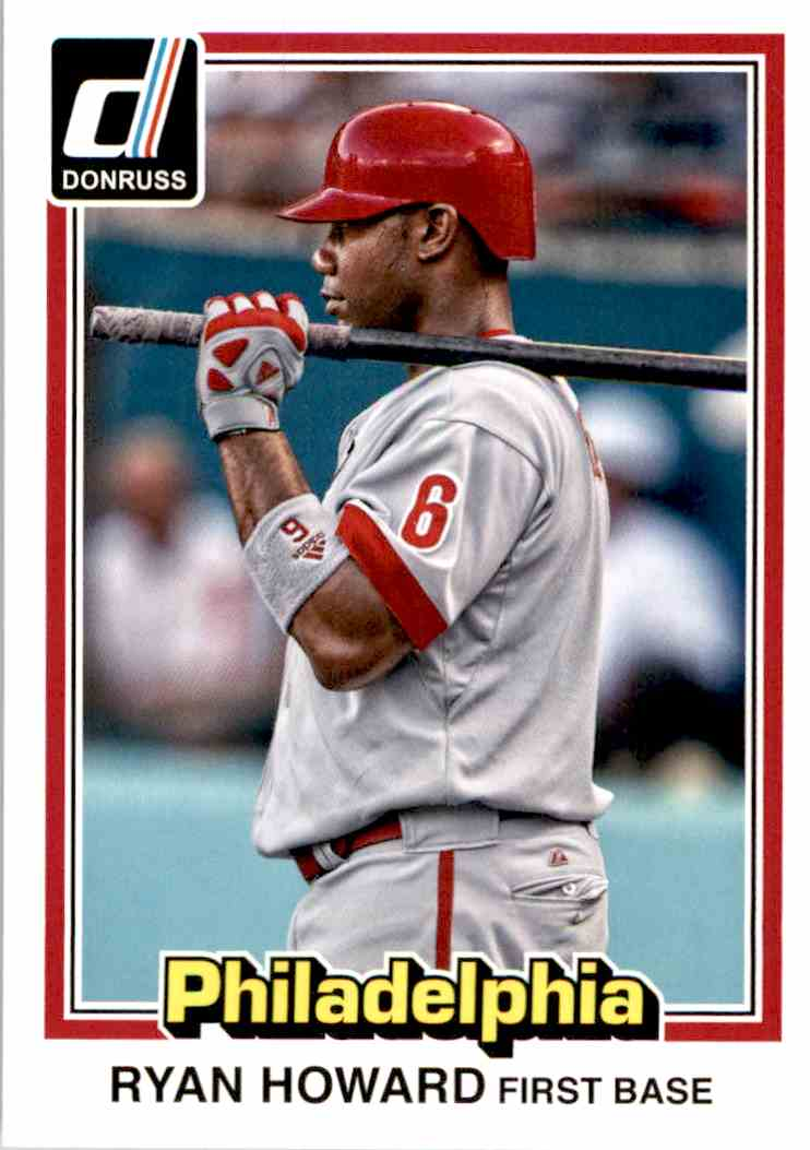 2015 Donruss 1981 Donruss Style Ryan Howard #225 card front image
