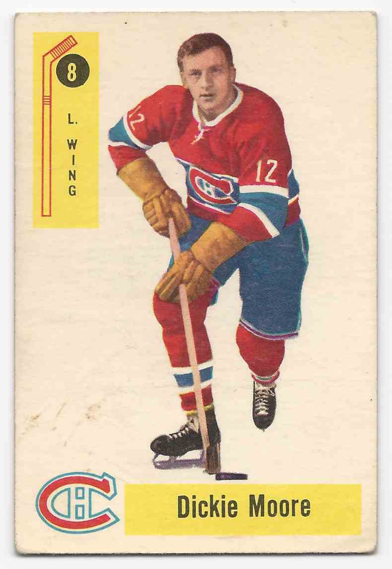 1958-59 Parkhurst Dickie Moore #8 card front image