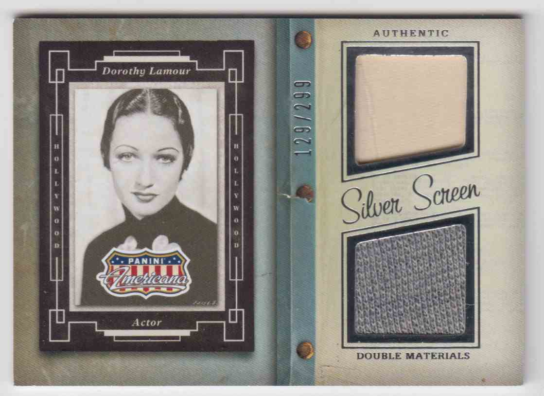 2015 Panini Americana Silver Screen Double Materials Dorothy Lamour #SD-DL card front image