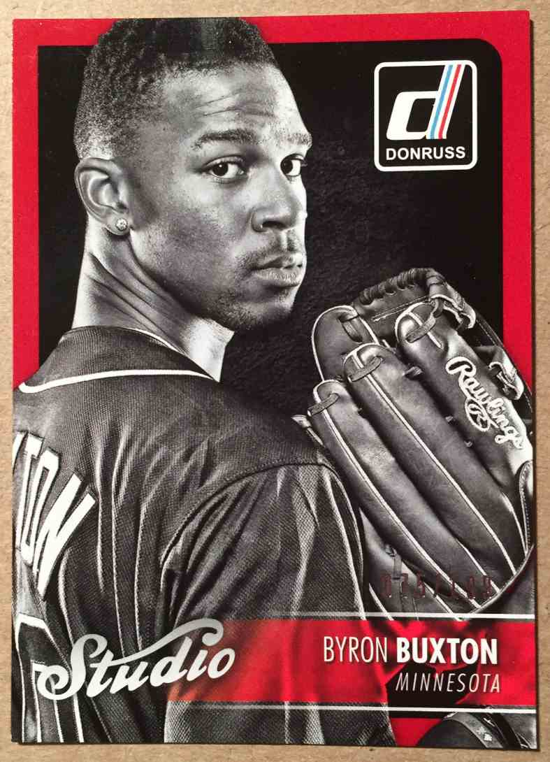 2016 Donruss Studio Byron Buxton card front image