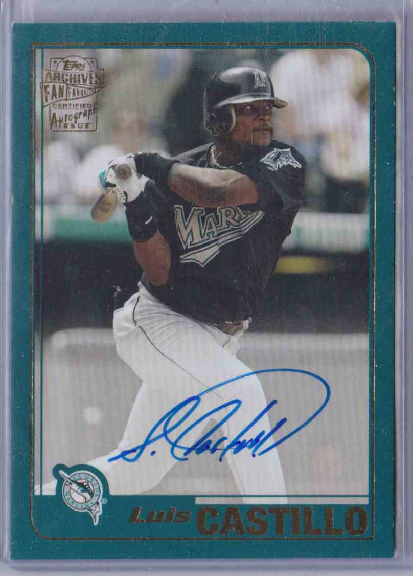 2018 Topps Archives Fan Favorites Autograph Luis Castillo #FFA-LC card front image
