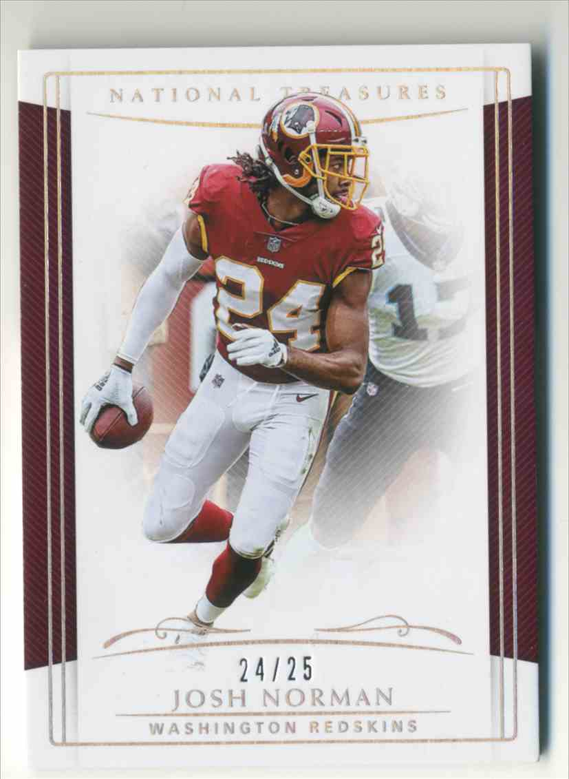 2018 Panini National Treasures Holo Silver Josh Norman #98 card front image