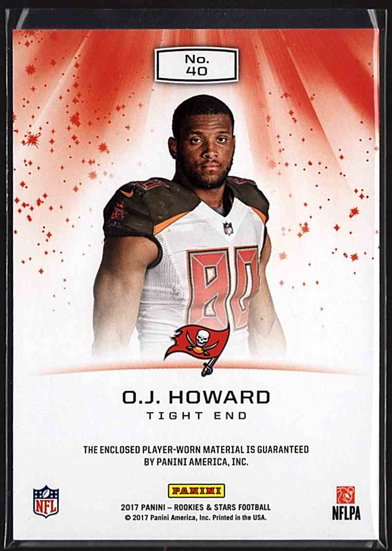 2017 Rookies And Stars Star Search Jerseys O.J. Howard #40 card back image