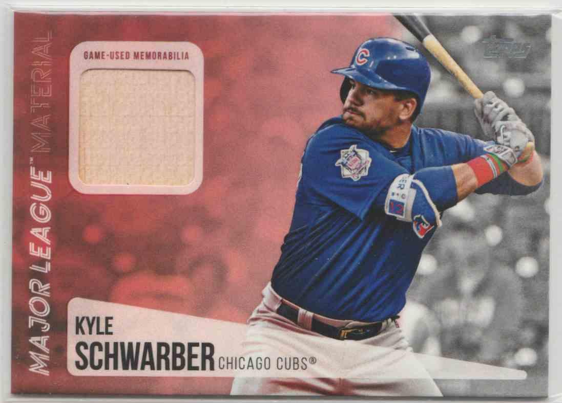 2019 Topps Major League Materials Kyle Schwarber #MLM-KS card front image