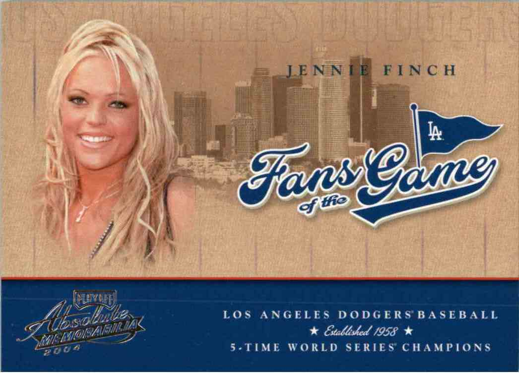 2004 Playoff Honors Fans Of The Game Jennie Finch #252FG-2 card front image