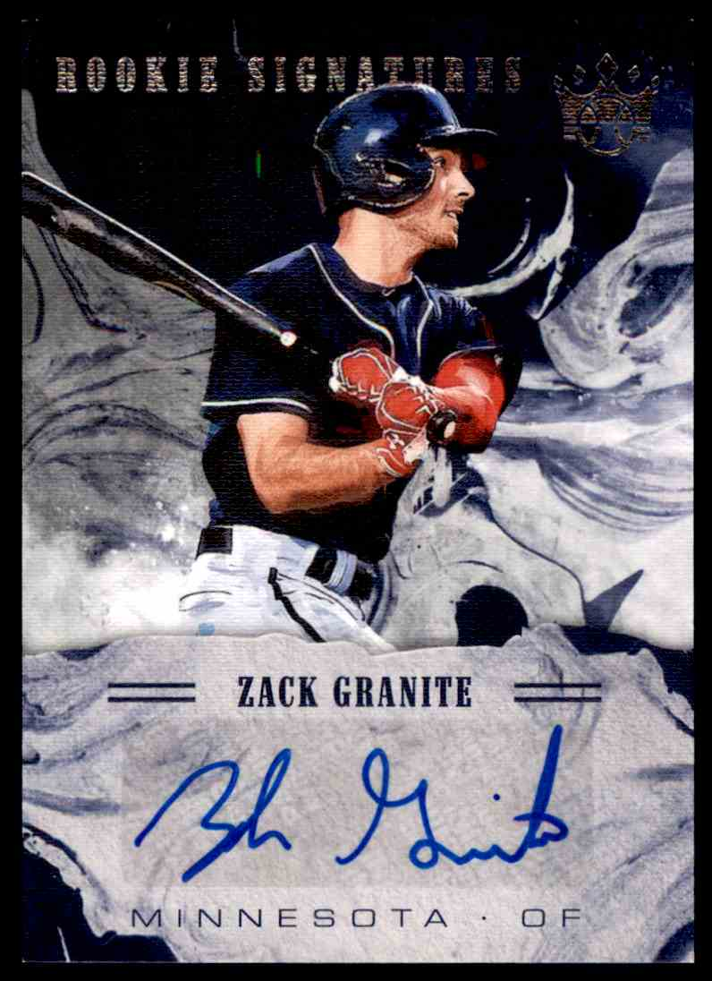 2018 Panini Diamond Kings Rookie Signatures Zack Granite #S-ZG card front image