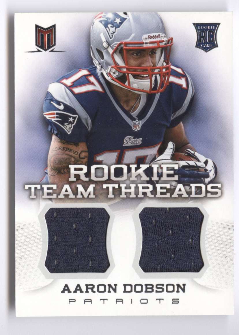 2013 Panini Momentum Rookie Team Threads Combo Materials Aaron Dobson #25 card front image
