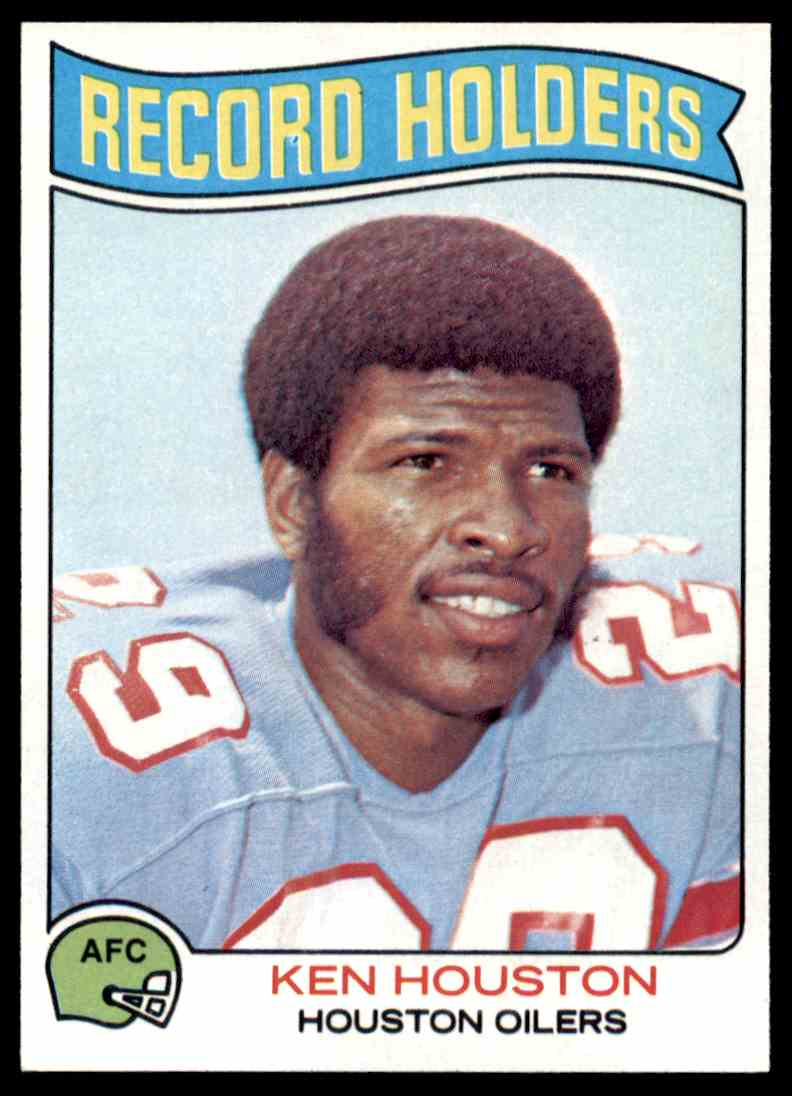 75dd7bab3fe 3 Record Holders - Ken Houston trading cards for sale