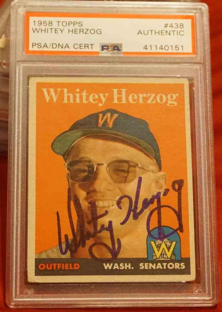 1958 Topps PSA/DNA Whitey Herzog card front image