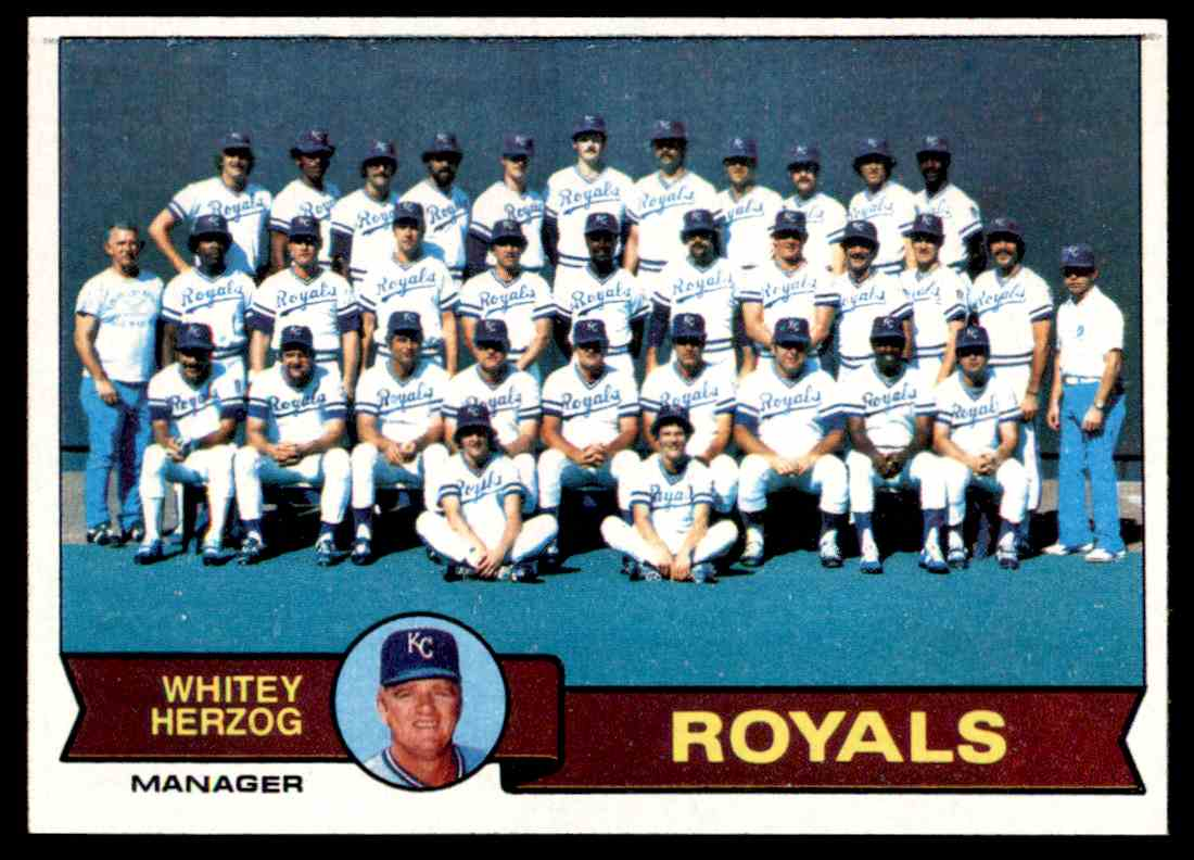 1979 Topps Royals Team Cardchecklist 451 On Kronozio