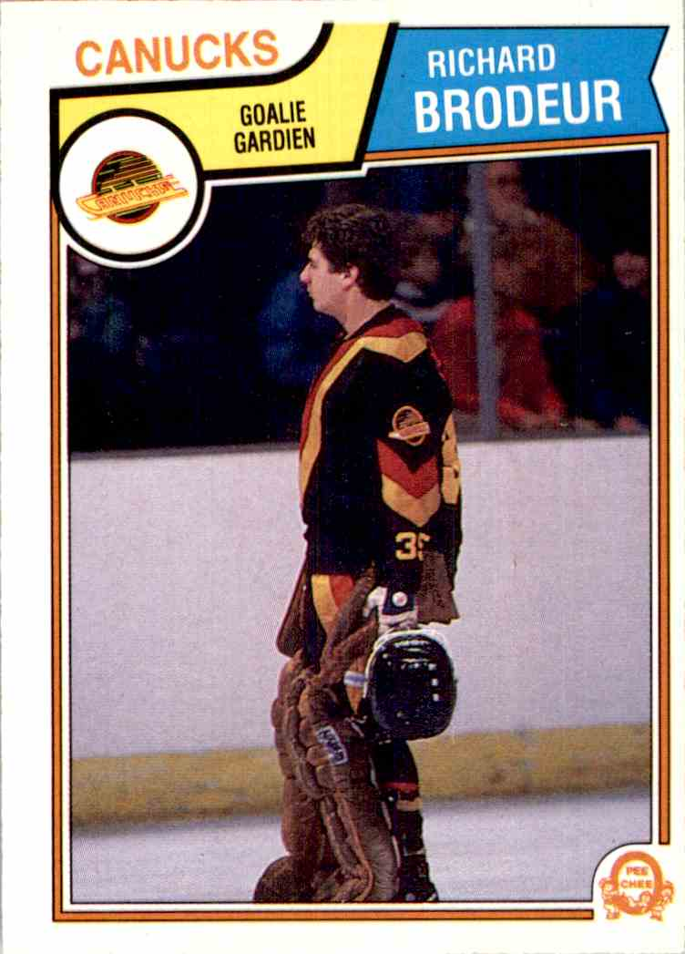 1983-84 O-Pee-Chee Richard Brodeur #346 card front image