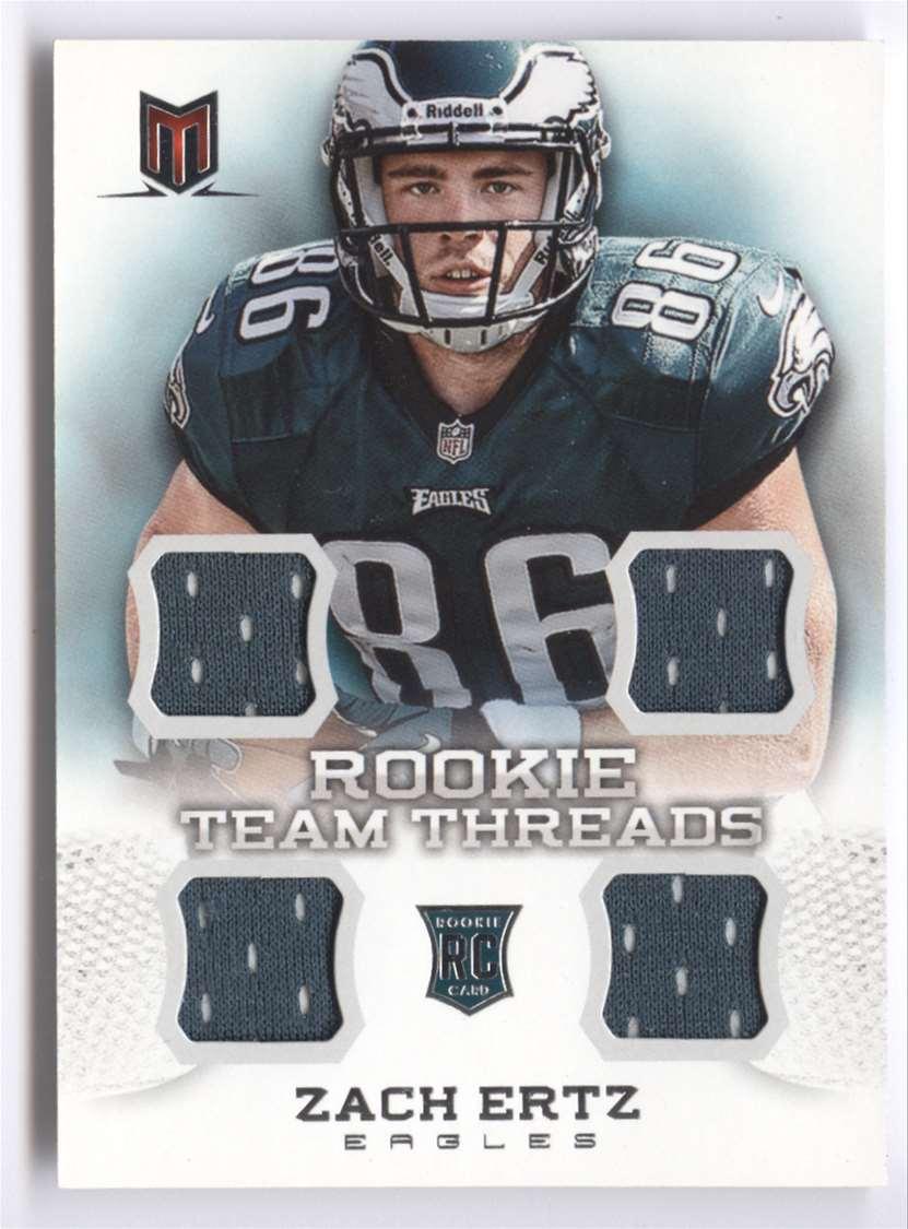 2013 Panini Momentum Rookie Team Threads Quad Materials Zach Ertz #20 card front image