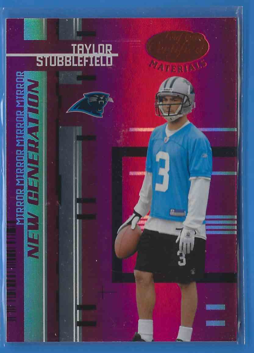2005 Leaf Certified Materials Mirror Red Taylor Stubblefield #200 card front image