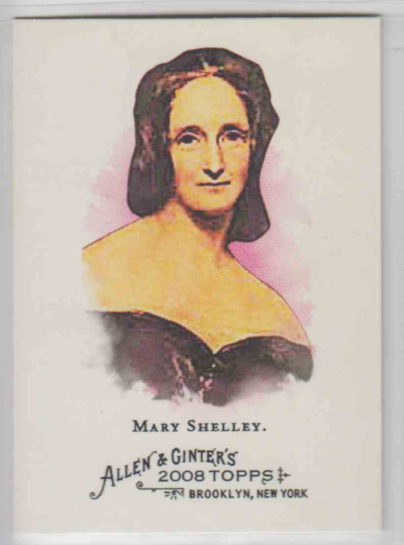 2008 Topps Allen And Ginter Mary Shelley #158 card front image