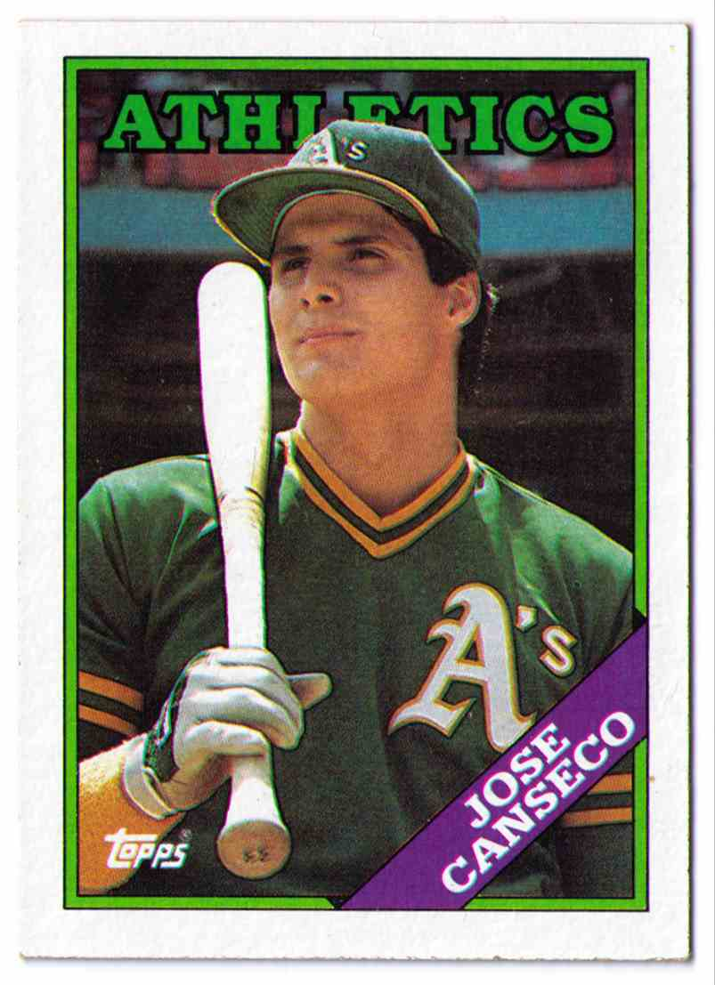 1988 Topps Baseball Card Jose Canseco 370 On Kronozio