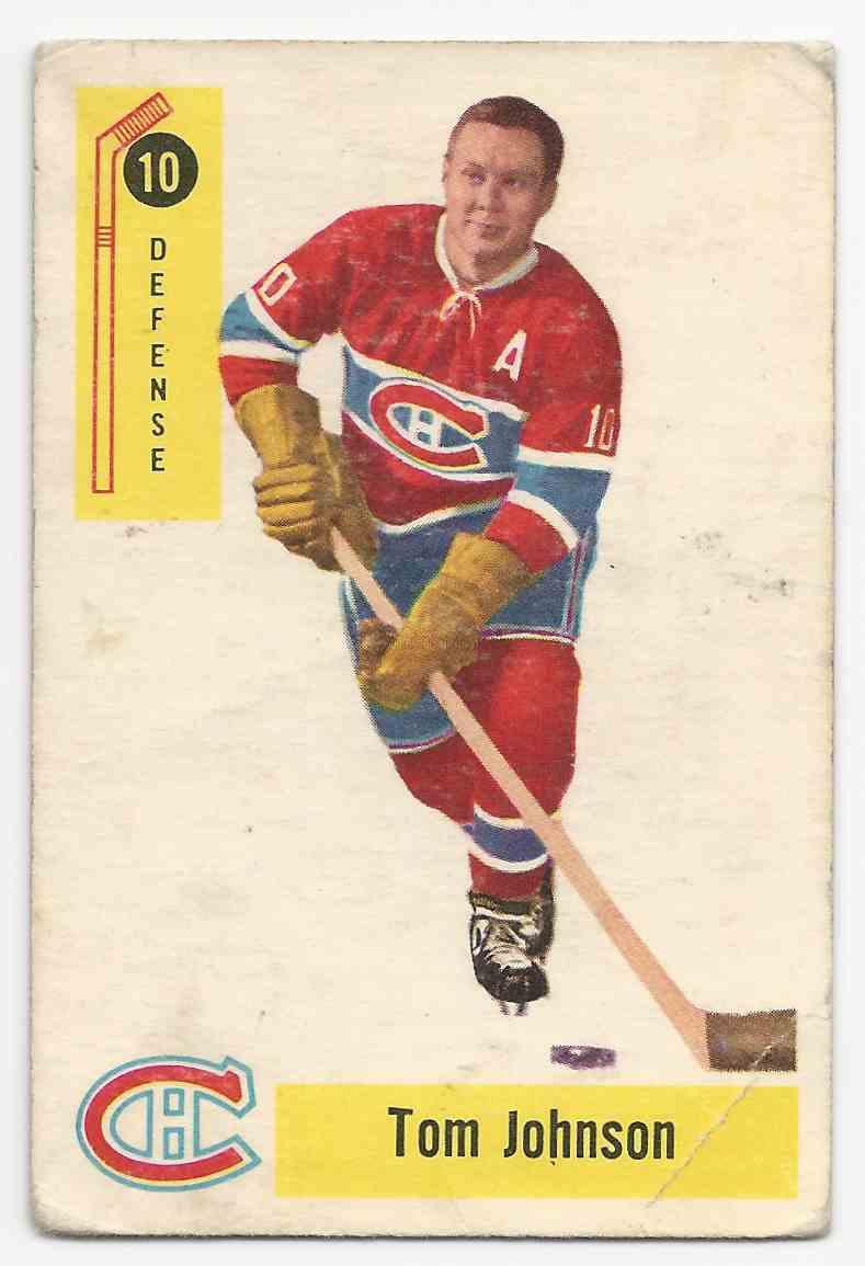 1958-59 Parkhurst Tom Johnson #10 card front image