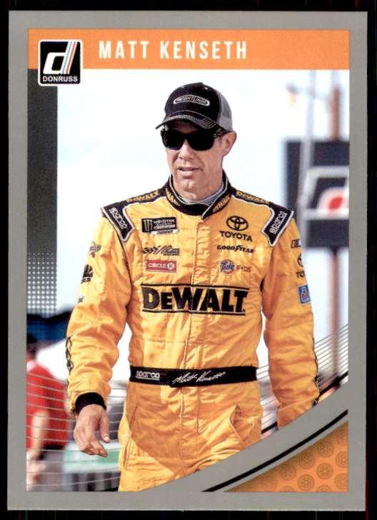 2019 Panini Donruss Racing Silver Matt Kenseth #74 card front image