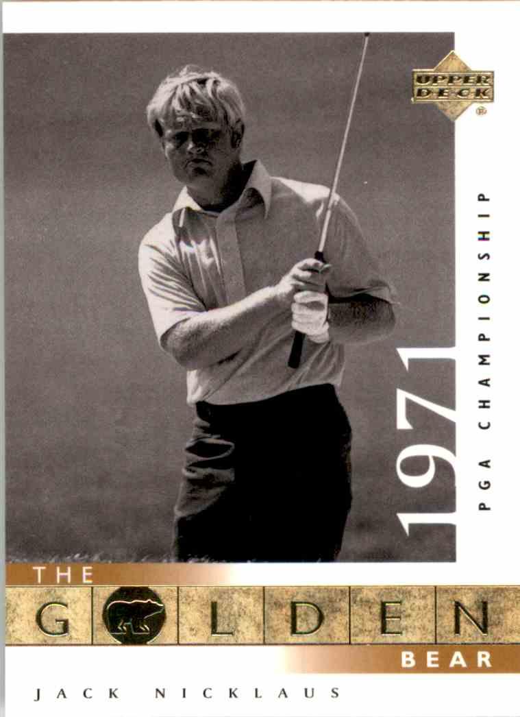 2001 Upper Deck J.Nicklaus Gb 71 PGA #114 card front image