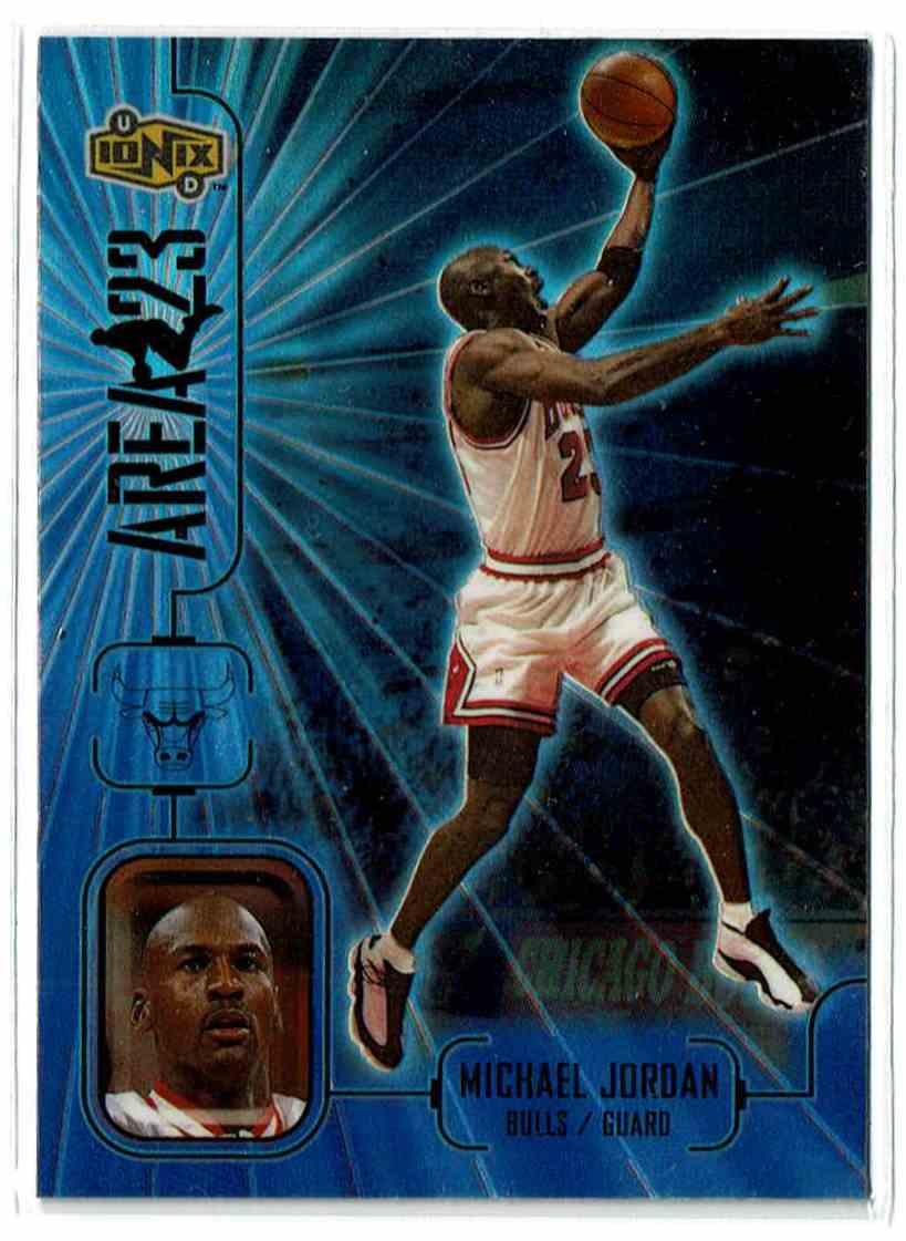 1998-99 Upper Deck Ionix Area 23 Michael Jordan #A7 card front image