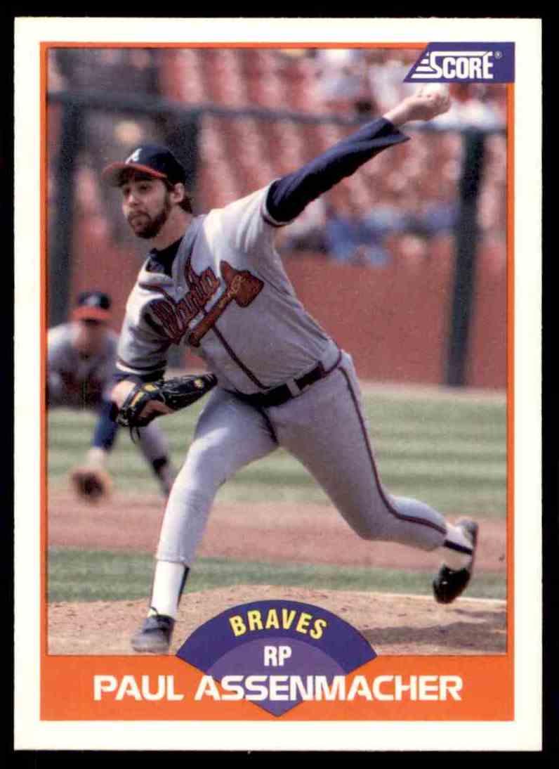 1989 Score Regular Paul Assenmacher #373 card front image