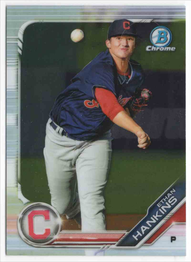2019 Bowman Chrome Prospects Ethan Hankins #BCP15 card front image