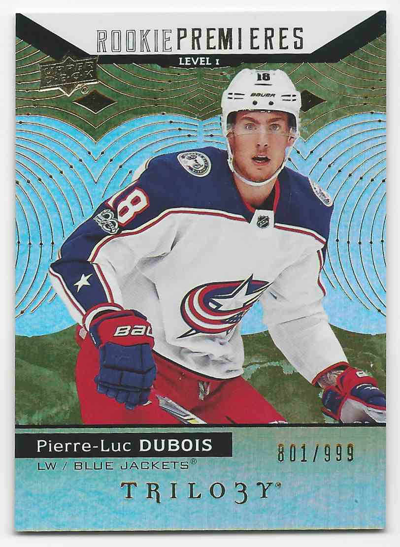 2017-18 Upper Deck Trilogy Pierre-Luc Dubois #79 card front image