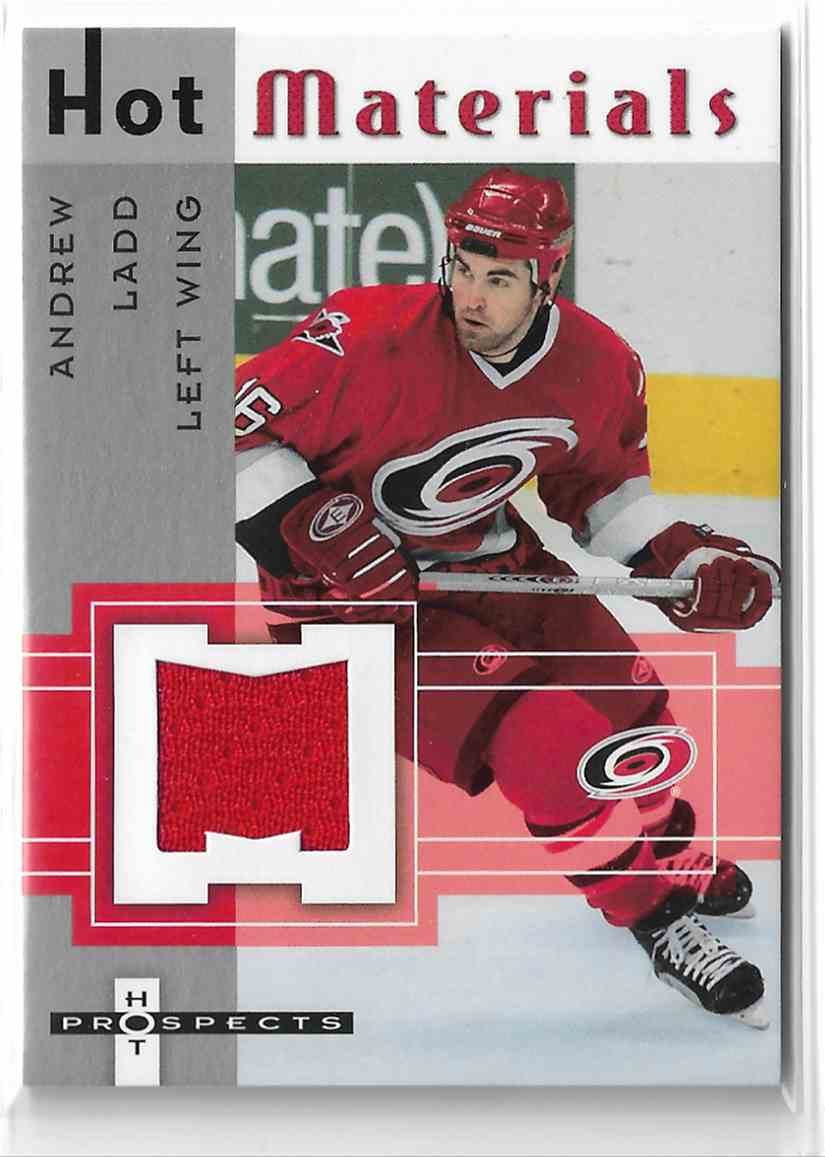 2005-06 Fleer Hot Prospects Hot Materials Andrew Ladd #HM-AL card front image