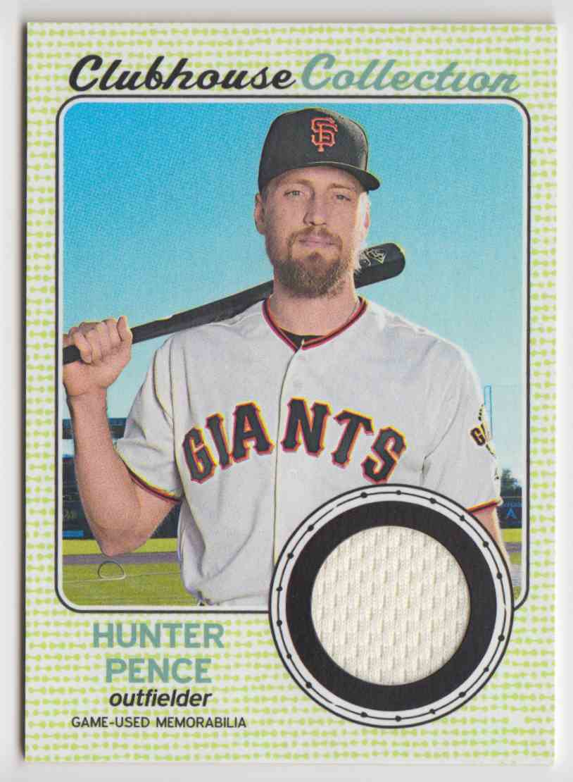 2017 Topps Heritage High Clubhouse Collection Relics Hunter Pence #CCR-HP card front image