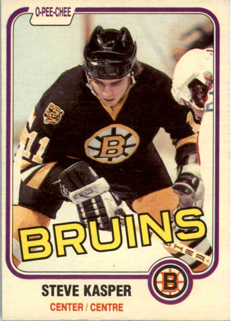 1981-82 O-Pee-Chee Steve Kasper #4 card front image